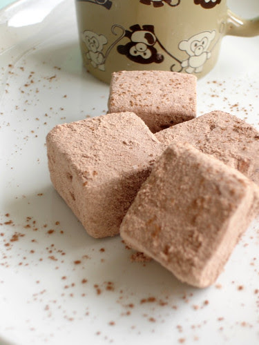 Chocolate marshmallows / Marshmallows de chocolate