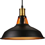 LEONLITE Industrial Metal Pendant Light, Edison Vintage Style Hanging Barn Lampshade, UL Listed, E26 Base, for Kitchen, Dining Room