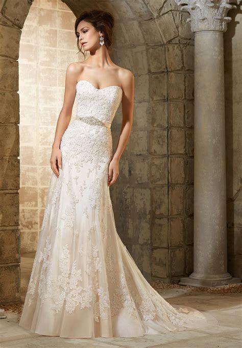 Elegant sheath lace long wedding dresses white/ivory 2015