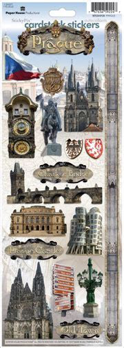 Prague Cardstock Scrapbooking Stickers