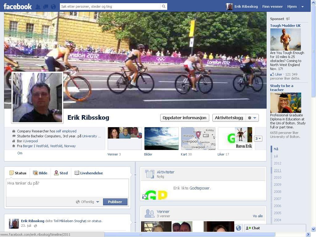oppdaterte profilbilde facebook