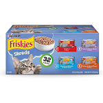 Purina Friskies Savory Shreds Variety Pack Wet Cat Food - 32 count, 5.5 oz cans