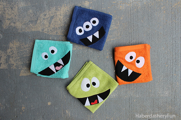 http://haberdasheryfun.com/scrap-fabric-projects-2/diy-make-monster-inspired-face-cloths