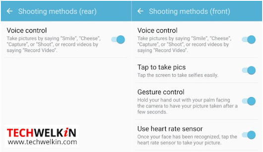 Camera Voice Control: Enable and Use in Samsung Galaxy S6, S7