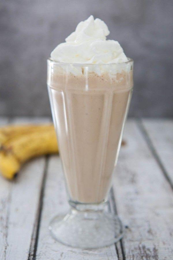 Chocolate Peanut Butter Banana Milkshake | Recipe