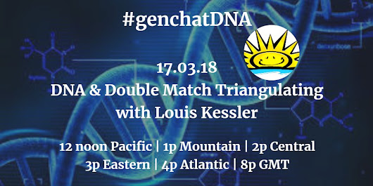 Join Me for #genchatDNA Tomorrow « Louis Kessler's Behold Blog