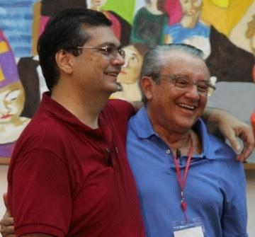 Flávio Dino ao lado de Zé Reinaldo