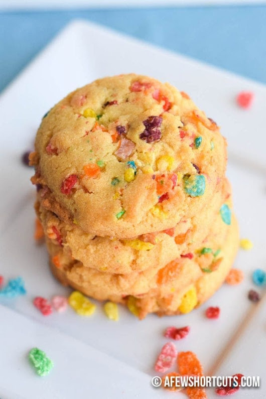 Fruity Pebbles Cookies Recipe - A Few Shortcuts