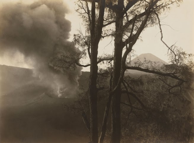 S. Satake Japanese, working Indonesia 1902 - c. 1937 'Eruption' Java c. 1930