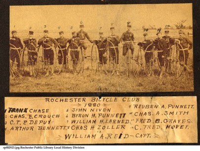 Rochester featured in bicycling history