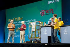 """Brad Miller, Derek White, Students from Mountain View and James Gosling, General Session """"The Toy Show"""" on June 5, JavaOne 2009 San Francisco"""