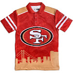 San Francisco 49ers NFL Thematic Skyline Men's Polo Shirt