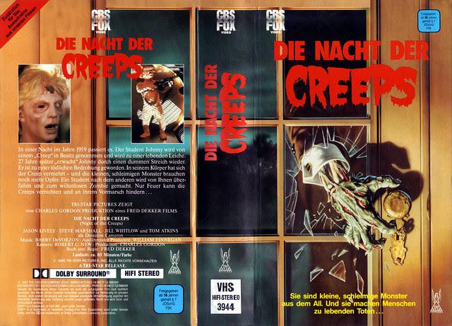 Night Of The Creeps (VHS Box Art)