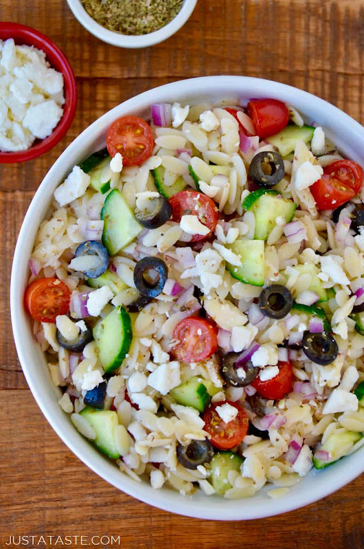 Greek Orzo Salad | Just a Taste