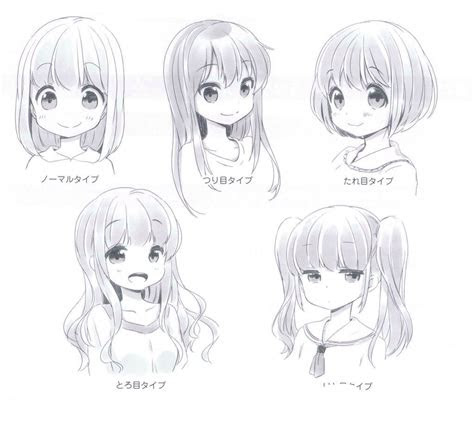 anime girl expressions cute drawings dibujos de