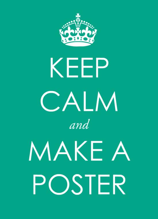 Make a Keep Calm Poster - Free template