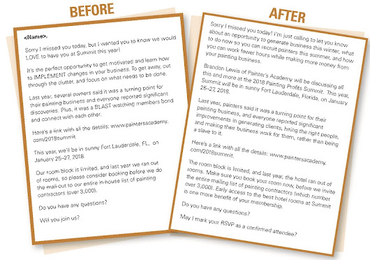 Before and After: Copywriting for Member Retention Example