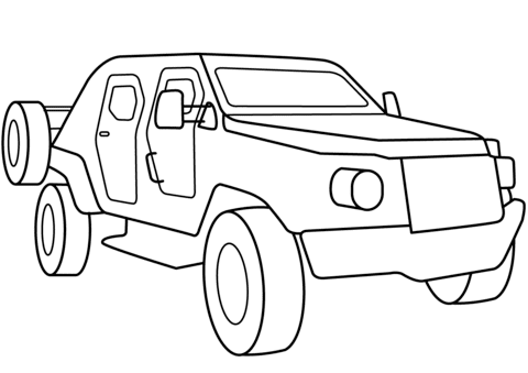 Military Armored Scout Car coloring page | Free Printable ...