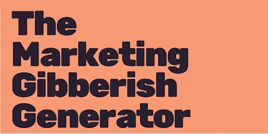 Marketing Gibberish Generator - Column Five