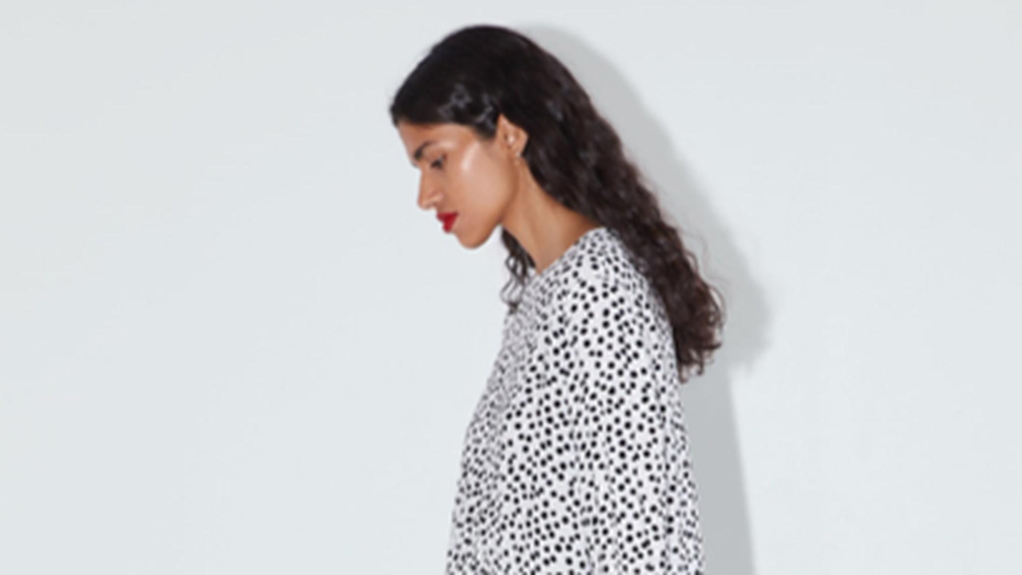 polka-dot dress boosts zara sales in tough retail market