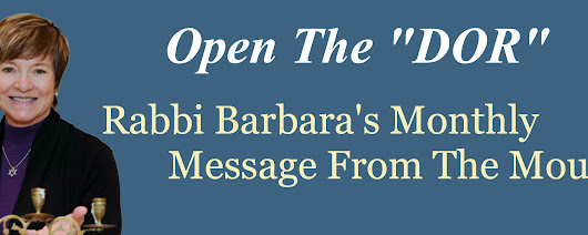 Rabbi Barbara Aiello Newsletter - Rabbi Barbara