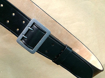 GERMAN WWII BLACK Leather Officers Belt w. Claw Buckle (MARKED) ALL SIZES
