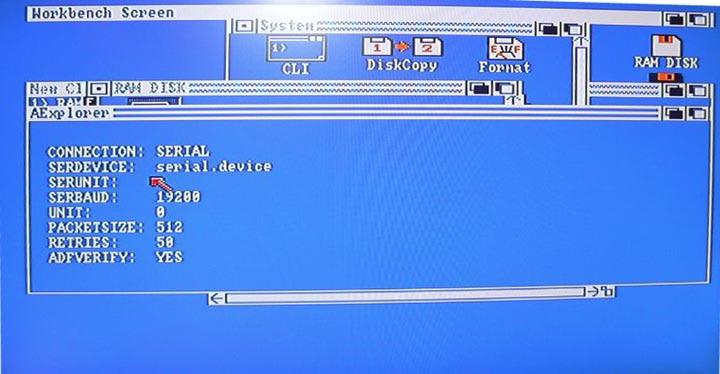 Pantalla Aexplorer en Amiga - 2