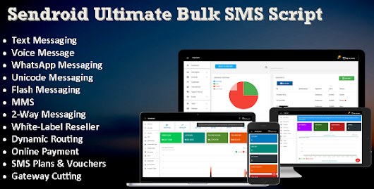 Sendroid Ultimate - SMS, WhatsApp, 2-Way & Voice Messaging Script with White-Label Reseller System - Theme88.Com – Free Premium Nulled Cracked Themes & Plugins & PHP Scripts and More