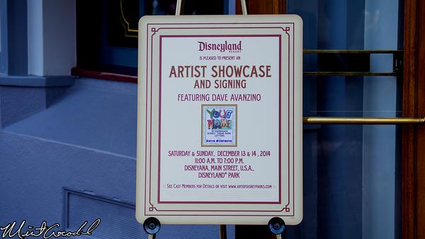 Disneyland Resort, Disneyland, Main Street U.S.A., Disneyana, Dave Avanzino