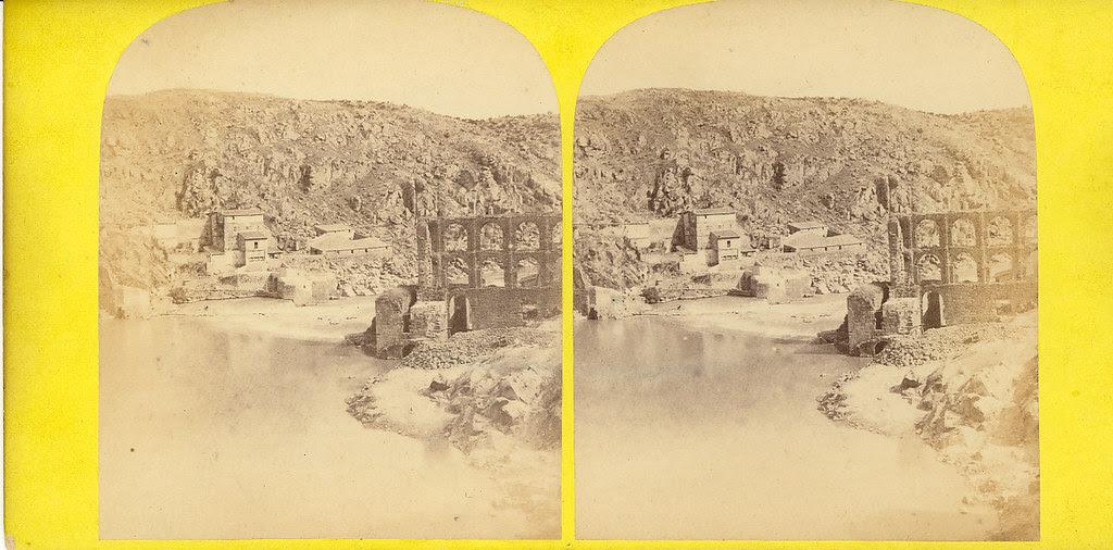 Fotografía estereoscópica de Toledo. Artificio de Juanelo