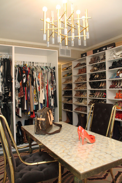 decorating and organizing a walk in closet glamour and shoe shelves