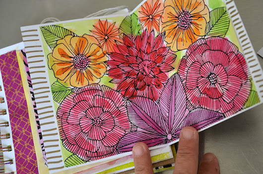USING COLORING PAGES IN YOUR ART JOURNAL - LAURA MILLER