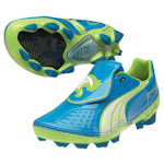 Puma Youth v1.11 FG Soccer Shoes (Dresden Blue) 4.5 By SoccerEvolution