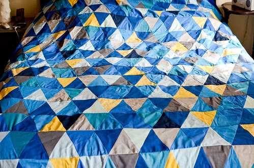 Step 17: Completed [Imperfect] Isosceles Triangle Quilt Top