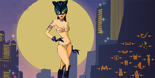 Catwoman Night Dressup -  coolbatmangames