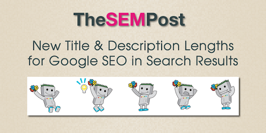 New Title & Description Lengths for Google SEO in Search Results