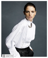 Karl Lagerfeld for Impulse Top, Long Sleeve Stretch Poplin Button Detail
