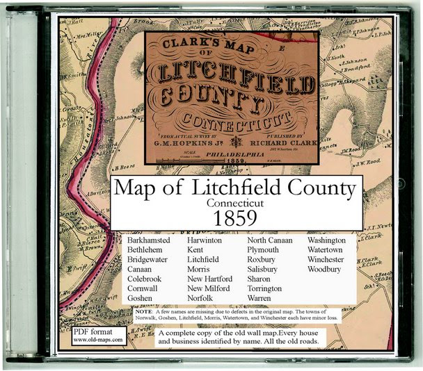 Litchfield County Connecticut Maps