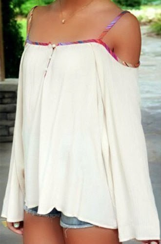Spaghetti Strap Backless Patchwork Bell Sleeve Casual Dresses