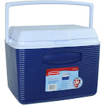 Rubbermaid Cooler, 24 Quart, Blue