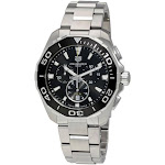 Tag Heuer Men's CAY111A.BA0927 Aquaracer Chronograph Stainless Steel Watch - Silver