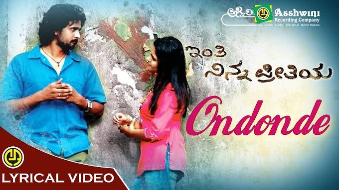 Ondonde Bachitta Maathu song lyrics - Kannada lyrics