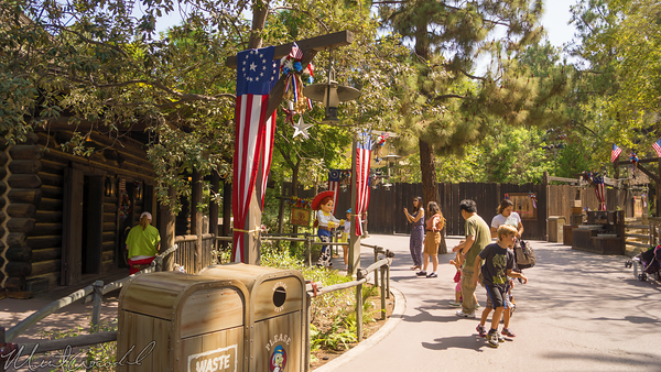 Disneyland Resort, Disneyland60, Disneyland, Frontierland, Big, Thunder, Ranch, Patriotic, Banner, Fourth, July, 4th