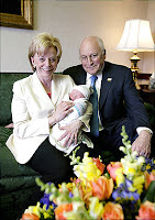 Lynne and Dick Cheney with their newest grandchild (White House photo)