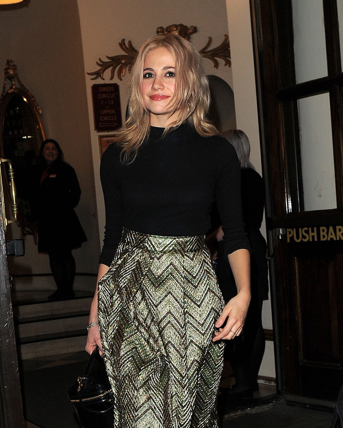 PIXIE LOTT Leaves The Playhouse Theatre in London 02/062016