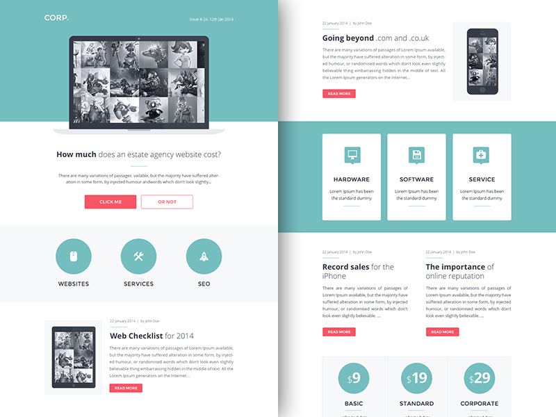newsletter email templates rocketway 0