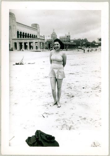 Girl at Atlantic City Beach 1943