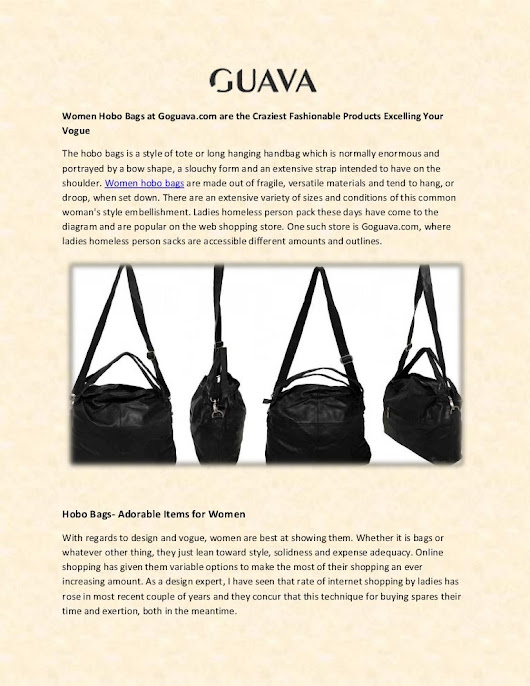 Buy Women Hobo Bags from Online Store at Goguava