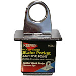 Keeper 05604 Anchor Point Chrome Eye With Expandable Rubber Block