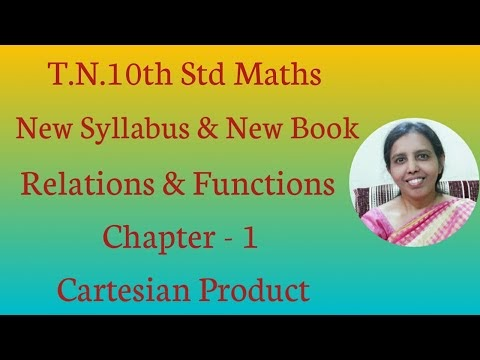 10th std maths New Syllabus (T.N) 2019 - 2020 Relations & Functions